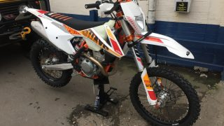 KTM EXC-F250 Six Days Security system installation meta track GPS Tracker CAT6 VTS. Stolen Vehicle Recovery, Alarm immobiliser anti theft